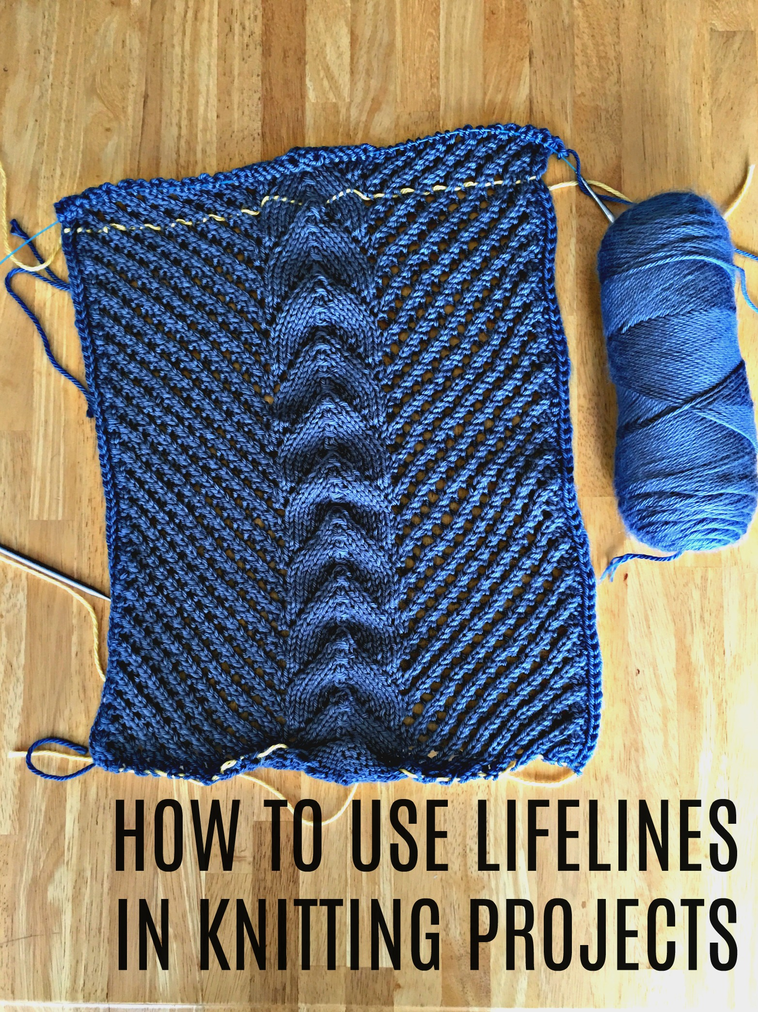 Using a Lifeline in Complicated Patterns - Nene Knits and ...